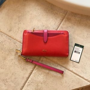 Ralph Lauren new zip pocket wallet/wristlet